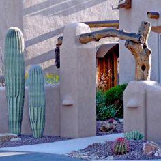 Tuscon home...love this entrance...unique.