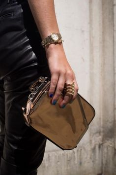 Alexander Wang clutch + Jennifer Fisher ring