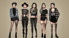 Grunge Look, 90s Grunge, Grunge Style, Grunge Outfits, Soft Grunge, Edgy Outfits, Edgy Style, The Sims 4 Pc, Sims 4 Mm