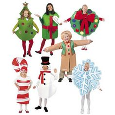 CHRISTMAS COSTUMES Complete Set of 7