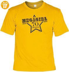 Cooles T-Shirt zum 70. Geburtstag MEGAGIRL seit 70 Jahren Geschenk zum 70 Geburtstag 70 Jahre Gr: 3XL Farbe: gelb - Shirts zum 70 geburtstag (*Partner-Link)