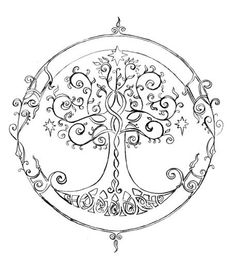 Tree of life. Signifying where my roots are and where your branches grow.