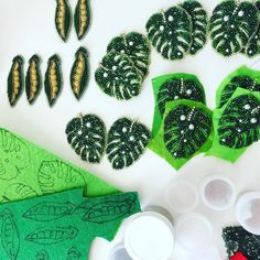 Big order... Bead working for brand. #peas #greenjewelry #monsteraleaf #monsterajewelry #tropicalleaf #tropicaljewelry #beadedjewelry #beadedjewellery #beadwork #greenpeas #uniquegift #uniquejewelry #beadedearrings #handmadejewelry #beadedearrings #fashionjewelry #zefirinastudio #brandjewelry #студиязефириной #embroideryartist