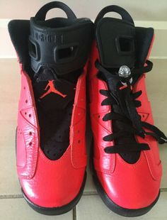 wholesale dealer eaa68 9db8c Rare Nike Air Jordan Retro 6 Infrared Kids Sneakers Size US 5Y 384665-623