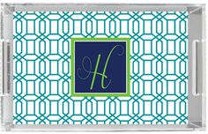 Personalized Lucite Tray Monogrammed Acrylic Tray by Pink Wasabi Ink, $68.00