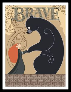 Brave Tapestry Movie Poster Disney Pixar. $17.99, via Etsy.