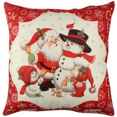 Vankúš Christmas Family, 43x43 cm