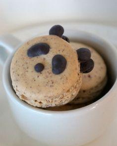 Panda French Macarons 1 dozen by LilypaDesignsMacaron on Etsy, $34.00