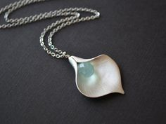 20 OFF SALE  Matte Rhodium plated calla lily flower by LilliDolli, $20.00