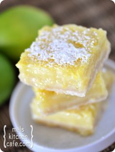 Buttermilk Lime Shortbread Bars Recipe ~ Light, refreshing, with that combination of cool, creamy filling and melt-in-your-mouth buttery shortbread