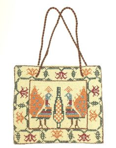"Ottoman Greek Embroidered Textile Purse Antique Folk Art Ethnic Costume Balkan | eBay ""This listing is for a lovely purse made from an antique Greek embroidered textile. Sting handles have been added. This item was recently deaccessioned from an important NYC museum collection and based on the museum records it was made between 1880-1899 and was collected in the Balkans in the mid-1920s."""