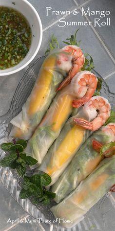 Prawn and Mango Summer Rolls   Natural sweet bite bringing spring breeze #Asian_recipe #Skinny #MARBELLA @HOSTALTIOMATEO