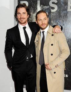 Christian Bale & Tom Hardy // TDKR London premiere, 18 July