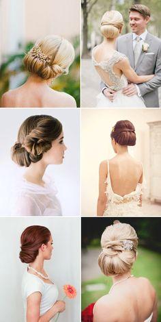 elegant wedding chignon hairstyles / http://www.himisspuff.com/bridal-wedding-hairstyles-for-long-hair/12/