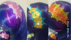 Hand diamonted comic inspired elasticated headband  available from my little shop on folksy  https://folksy.com/shops/ClairesGlitterBox