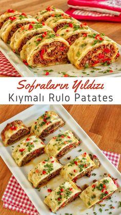 Appetizer Recipes, Snack Recipes, Dinner Recipes, Snacks, Turkish Breakfast, Potato Dinner, Turkish Kitchen, Bread Machine Recipes, Cinnamon Bread