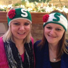 MSU Rose Bowl Crochet headbands by Dots of Love Creations