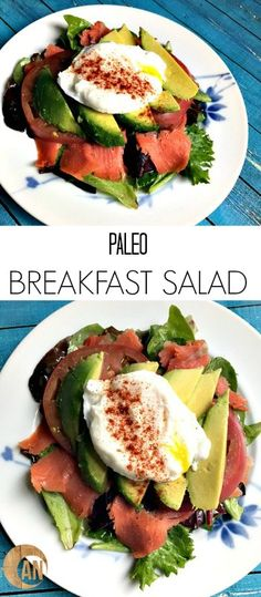 This Paleo Breakfast Salad is a great way to change up how you eat eggs for breakfast! It's really easy to throw together, but it seems kind of fancy.