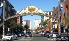 The San Diego Gaslamp Quarter is home to over 100 restaurants, pubs, and boutiques.