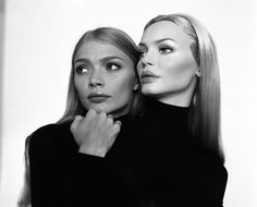 Jodie Kidd and her fiberglass double. We had several of these mannequins that we sold at 1/2 off the normal retail price