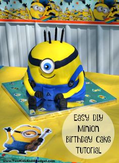 Minion Birthday Cake can easily be recreated following my step by step ...