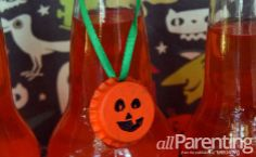 Halloween Bottle Cap Necklace - Kids Craft