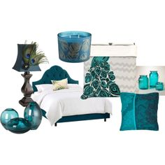 """""""Bedroom - Peacock"""" by blue-sky-miner on Polyvore"""