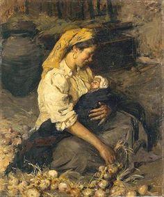 ComJeitoeArte: A Criança e a Arte Portuguesa, Uma Pausa Forçada, pintura, óleo sobre madeira, 1913. Alves Cardoso - Museu José Malho