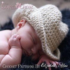 Baby Cowboy Hat Pattern by TheLovelyCrow. So cute!!