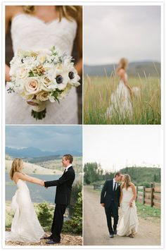 Pretty flowers. This site has really cute outdoor weddings.