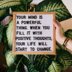 Your mind is a powerful thing. When you fill it with positive thoughts, your life will start to change 🌟 📸 Cute Quotes, Words Quotes, Wise Words, Funny Quotes, Son Quotes, Happy Quotes, Wisdom Quotes, Sayings, Positive Thoughts
