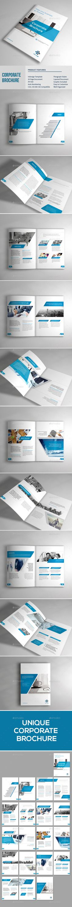 Corporate Brochure  -  InDesign Template • Only available here! ➝ https://graphicriver.net/item/corporate-brochure/14467434?ref=pxcr
