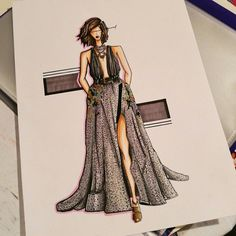 Illustration of Elie Saab Fashion show 2016 - Fashion sketch Holi Drawing, Fashion Show 2016, Fashion Painting, Elie Saab, Fashion Sketches, Style Inspiration, Illustration, Fashion Sketchbook, Illustrations