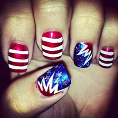 sydtynne's festive tips. Show us your 4th of July-inspired nails! Tag your pic #SephoraNailspotting to be featured on our social sites.