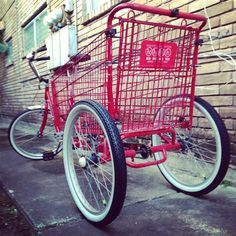 homemade trike with shopping cart