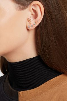 Screw fastening for pierced ears NET-A-PORTER.COM is a certified member of the Responsible Jewellery Council Imported