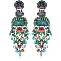 Ayala Bar Women Classic Earrings (2 730 SEK) ❤ liked on Polyvore featuring jewelry, earrings, turquoise, ayala bar jewellery, ayala bar, ayala bar earrings, earrings jewelry and silver tone earrings