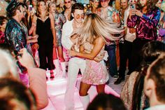 Our Wedding Welcome Party — Kelly Fiance Creative Welcome To The Party, Wedding Welcome, Our Wedding, Dream Wedding, Party Wedding, Disco Theme, Disco Party, Costume Party Themes, Dresses For Teens