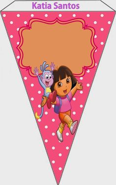 Dora the Explorer: Free Printable Invitations and Party Printables.