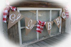 I Do BBQ Banner Bridal Shower Banner by MerryMeDesign on Etsy