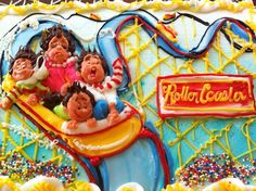 Roller Coaster theme cake