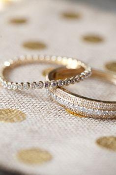 simple, delicate bands | Katie Nesbitt #wedding