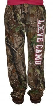 """LOVE CAMO"" Realtree Camo Lounge Pants: Hunting Apparel 