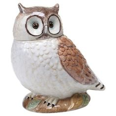 The Certified International Rustic Nature Owl Cookie Jar was created by designer Susan Winget. This ceramic container brings the simplicity and charm of rustic living along with the beauty of natural wildlife to your kitchen. Cookie Box, Cookie Jars, Cookie Cutters, Pasta Piedra, Nature 3d, Owl Cookies, Biscotti Cookies, Nature Collection, Stamp