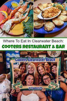 Clearwater Florida Restaurant - Cooters Restaurant & Bar in Clearwater Florida i. Clearwater Florida, Florida Beaches, Sarasota Florida, Orlando Florida, Tonga, Restaurant Bar, Best Island Vacation, Where Is Bora Bora, Happy Hour Specials