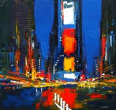 Acrylic Paintings of New York by Daniel Castan