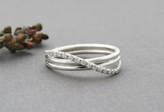 Unique Engagement Ring, Unique Diamond Infinity Ring, Infinity Engagement Ring, Infinity Wedding Ring, Delicate 14k Solid Gold Infinity Ring by SivanLotan on Etsy https://www.etsy.com/listing/224814105/unique-engagement-ring-unique-diamond