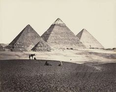 The Pyramids of Giza from the southwest in 1858.