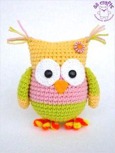 Amigurumi Owl  - Free Russian Pattern - http://88crafts.blogspot.ru/2014/01/color-owl.html
