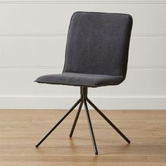 Gray Upholstered Swivel Dining Chair